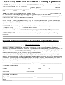 Filming Agreement Form