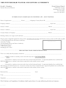 Evidence Of Compliance Certificate - Dye Testing Form - The Pittsburgh Water And Sewer Authority