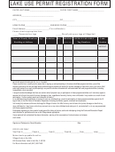 Lake Use Permit Registration Form - Village Of Lake In The Hills