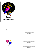 Astronomy Party Invitation Card Template