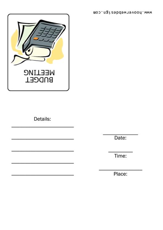 Budget Meeting Invitation Template Printable pdf
