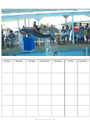 Jumping Dolphin Blank Monthly Calendar Template