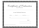Certificate Of Ordination - Deacon Award Certificate Template