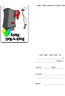 Rock And Roll Party Invitation Card Template