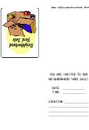 Neighborhood Yard Sale Invitation Card Template
