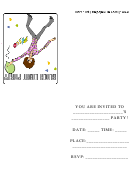 Black Light Party Invitation Card Template