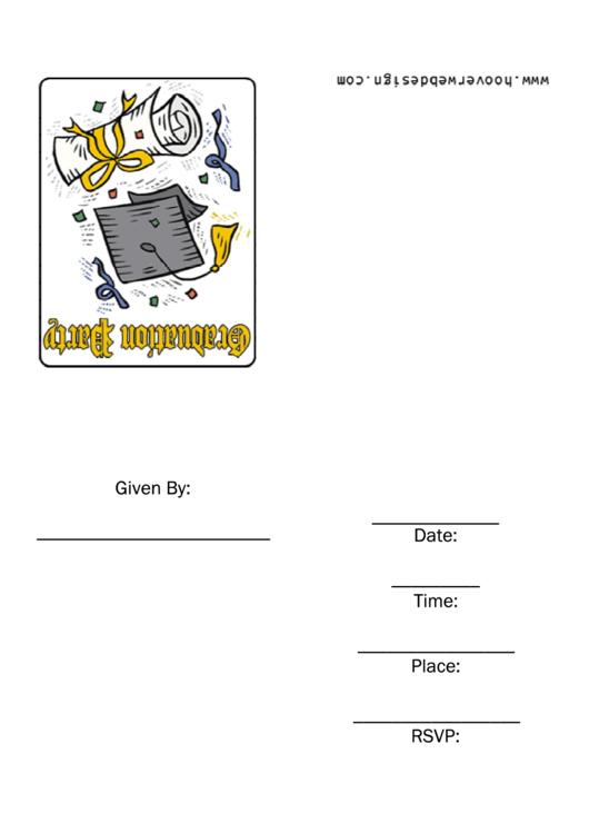 Graduation Party Invitations Confetti Template Printable pdf