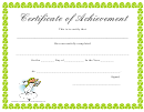Certificate Of Achievement - Successful Completion Template