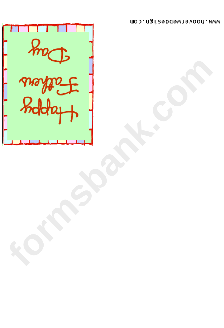 Happy Fathers Day Dad - Card Template