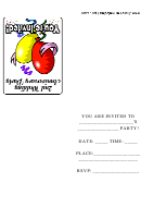 2nd Wedding Anniversary Party Invitation Card Template