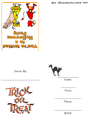Trick Or Treaters Halloween Party Invitation Card Template