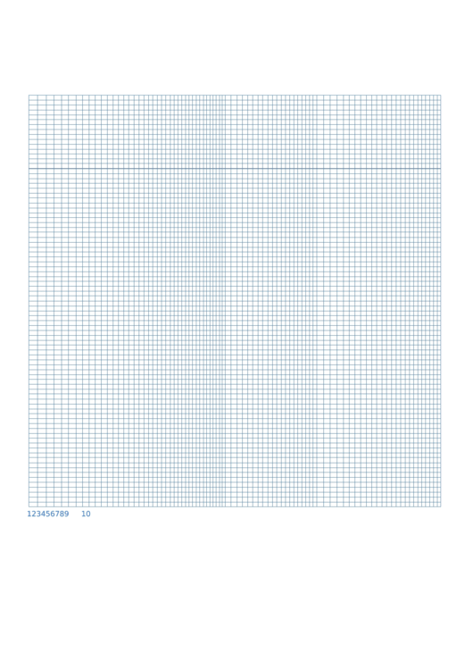 Semi Log Graph Paper - 1 Decades By 12 Divisions Printable pdf