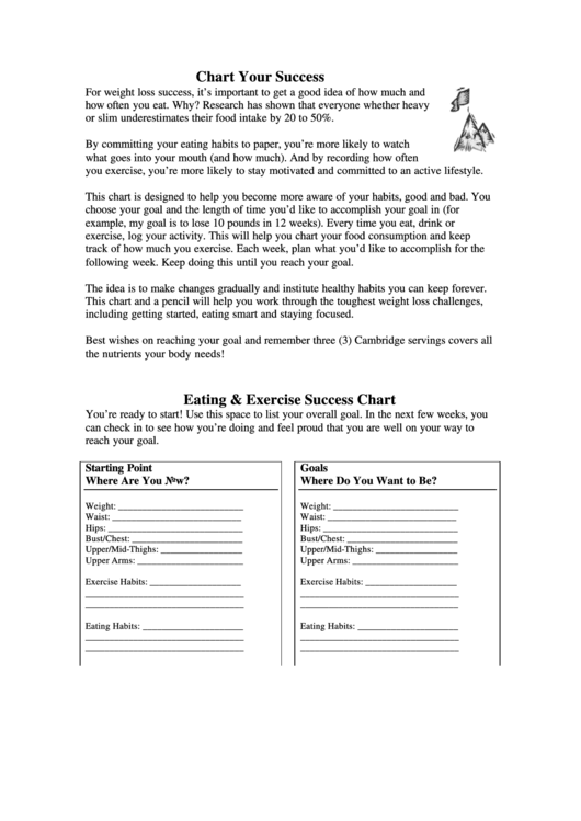 Chart Your Success Printable pdf