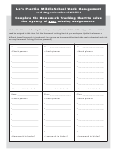 Blank Homework Tracking Chart Template