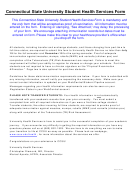 Connecticut State University Student Health Services Form