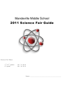Mandeville Middle School 2011 Science Fair Guide