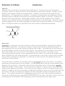 Extraction Of Caffeine Lab Template