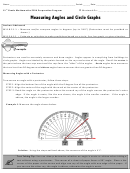 Measuring Angles And Circle Graphs Worksheet Template