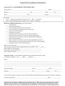 Certificate Of Medical Necessity