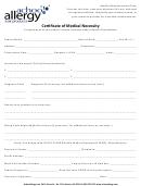 Achoo Allergy Certificate Of Medical Necessity