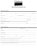 Teacher Recommendation Form