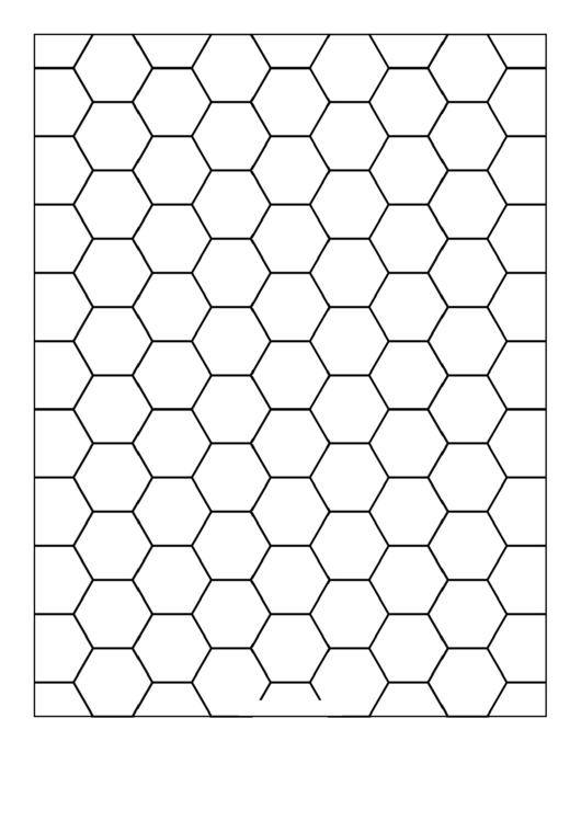Hex One-Inch Graph Paper Template Printable pdf