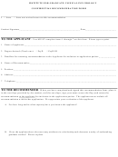 Confidential Recommendation Form