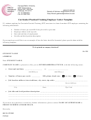 Curricular Practical Training Employer Letter Template