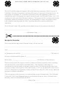 Donation Form For El Dorado County 4 H