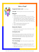 Sink Or Float Grade 3 Lesson Plan