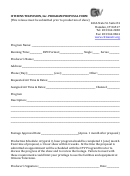 Program Proposal Form
