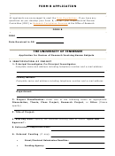 Application For Review Of Research Involving Human Subjects