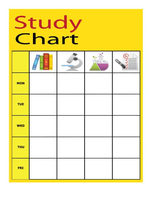 Study Chart Template