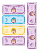 Play-dollar Templates - One, Five And Ten