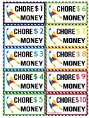 Chore Money Template