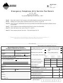 Montana Form 911 - Emergency Telephone Service Fee Return