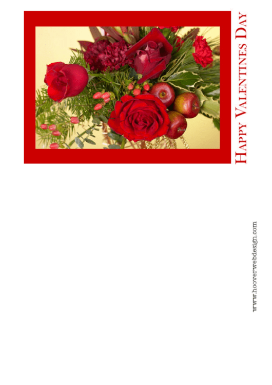 Happy Valentines Day Greeting Card Template Printable pdf