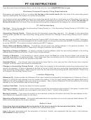 Pt-100 Instructions - Business Personal Property Return - South Carolina Department Of Revenue