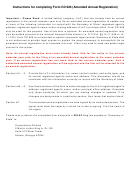 Form Cd 920 - Amended Annual Registration For Limited Liability Company