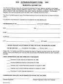 Extension Request Form Municipal Income Tax - 2005