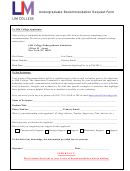 Undergraduate Recommendation Request Form