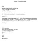 Sample Consultant Letter