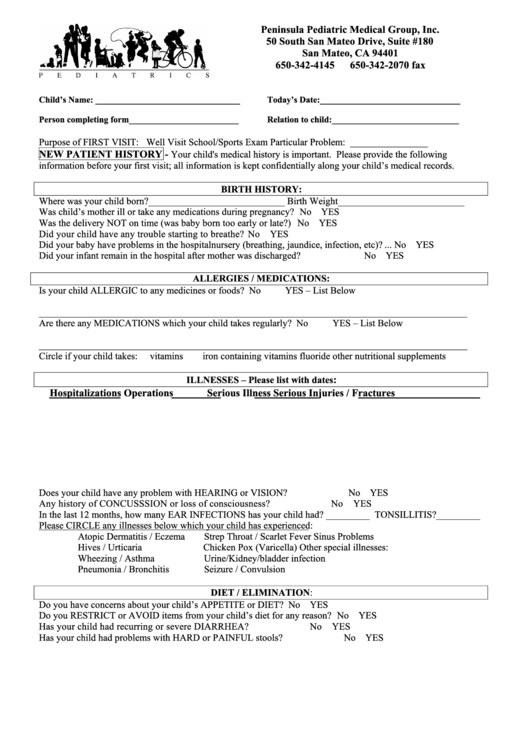 75 new patient forms and templates free to download in pdf