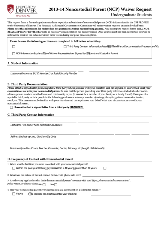 top non custodial parent waiver letter samples free to
