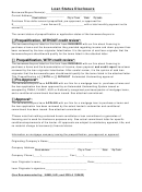 Loan Status Disclosure Form