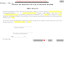 Form 1303 - Notice Of Meeting Of Local Review Board - 1999