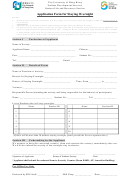 Application Form For Staying Overnight