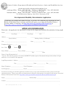 Developmental Disability Determination Application - Alaska Department Of Health And Social Services