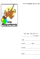Horseback Riding Party Invitation Template