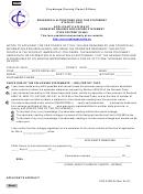 Applicant's Affidavit-odometer Reading Disclosure Statement Form